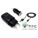 Htc Wall Charger With Car Charger 3 In 1